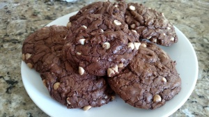 Chocolate Fudge White Chip Cookies